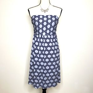 Hourglass Lilly Dress Strapless Medium Navy Isabel